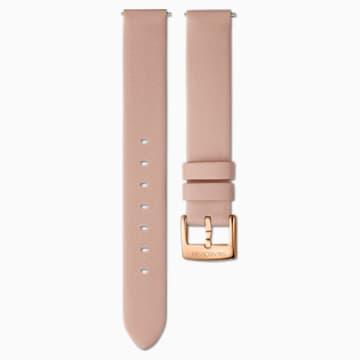 Bracelet de montre 14mm, Cuir, rose, PVD doré rose - Swarovski, 5548138