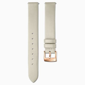 Cinturino per orologio 14mm, Pelle, grigio talpa, PVD oro rosa - Swarovski, 5548142