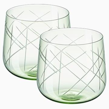 Nest Tumbler Set (2), Green - Swarovski, 5548168
