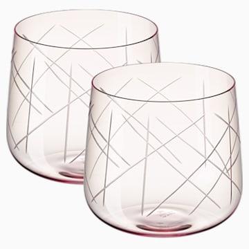 Nest Gläser-Set (2 St.), rosa - Swarovski, 5548169