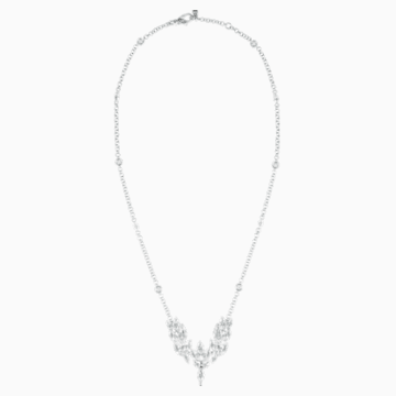 Luna Necklace, Swarovski Genuine Topaz, 18K White Gold - Swarovski, 5549180