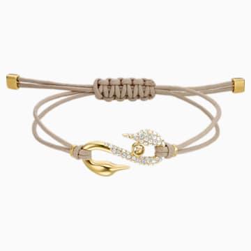 Swarovski Power Collection Hook Браслет, Кремовый Кристалл, Покрытие оттенка золота - Swarovski, 5551806