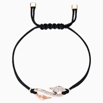 Swarovski Power Collection Hook 手链, 黑色, 镀玫瑰金色调 - Swarovski, 5551812