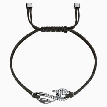 Pulsera Swarovski Power Collection Hook, gris oscuro, Baño de rutenio - Swarovski, 5551813