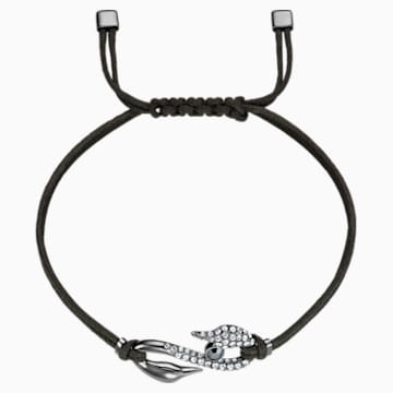 Swarovski Power Collection Hook Bracelet, Dark Gray, Ruthenium plated - Swarovski, 5551813