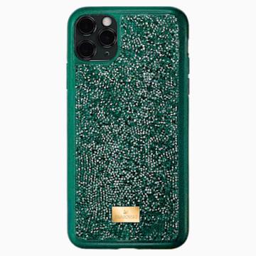 Coque rigide pour smartphone avec cadre amortisseur Glam Rock, iPhone® 11 Pro Max, vert - Swarovski, 5552654