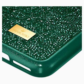 Custodia per smartphone con bordi protettivi Glam Rock, iPhone® 11 Pro Max, verde - Swarovski, 5552654
