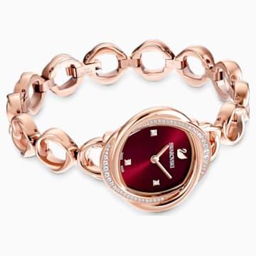 Crystal Flower-horloge, Metalen armband, Grijs, Roségoudkleurig PVD - Swarovski, 5552783