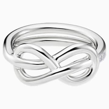 Knot of True Love Classic Ring, Swarovski Created Diamonds, 18K White Gold, Size 58 - Swarovski, 5553937