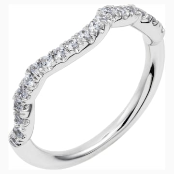 Knot of True Love Classic Band Ring, Swarovski Created Diamonds, 18K White Gold, Size 52 - Swarovski, 5553942