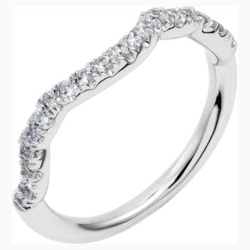 Knot of True Love Classic Band Ring, Swarovski Created Diamonds, 18K White Gold, Size 55 - Swarovski, 5553943