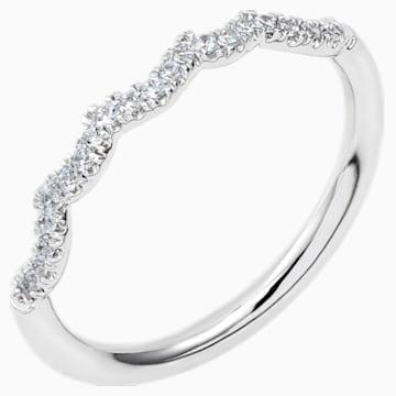 Knot of True Love Slim Band Ring, Swarovski Created Diamonds, 18K White Gold, Size 58 - Swarovski, 5553947