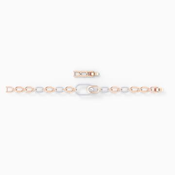 Pulsera Swarovski Sparkling Dance North, blanco, combinación de acabados metálicos - Swarovski, 5554217