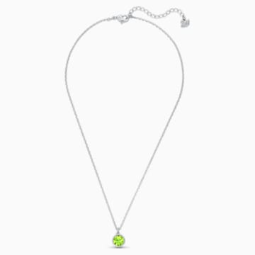 Pendente Birthstone, agosto, verde, placcato rodio - Swarovski, 5555790