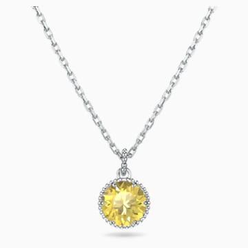 Pendente Birthstone, novembre, giallo, placcato rodio - Swarovski, 5555791