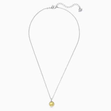 Birthstone Pendant, November, Yellow, Rhodium plated - Swarovski, 5555791