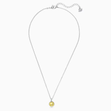 Přívěsek Měsíční kámen, listopad, žlutý, rhodiovaný - Swarovski, 5555791