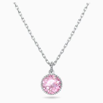 Pandantiv piatră zodiacală, octombrie, roz, placat cu rodiu - Swarovski, 5555794
