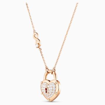 锁定我爱18K玫瑰金钻石项链 - Swarovski, 5555945