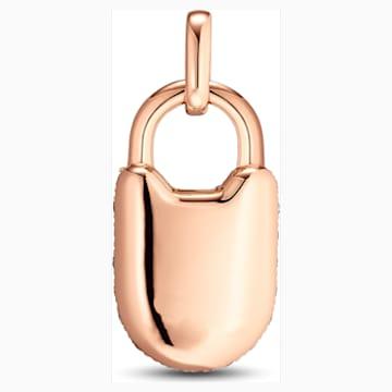 锁定我爱18K玫瑰金钻石链坠 - Swarovski, 5555946