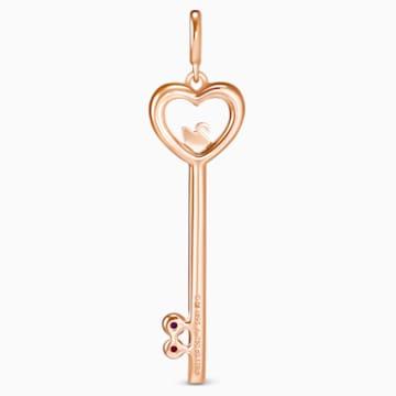 18K RG LockMyHeart Key Pendant (Ruby) - Swarovski, 5555948