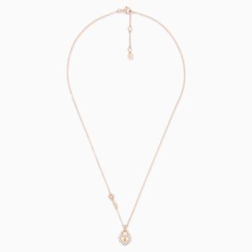 锁定我爱18K玫瑰金粉红蛋白石钻石项链 - Swarovski, 5555953