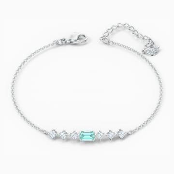 Attract Rectangular Armband, grün, rhodiniert - Swarovski, 5556732