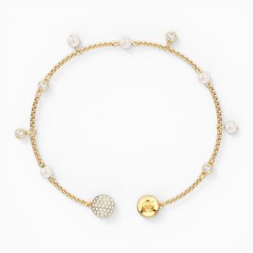 Αλυσίδα strand Delicate Pearl από τη Συλλογή Swarovski Remix, λευκή, επιχρυσωμένη - Swarovski, 5556904