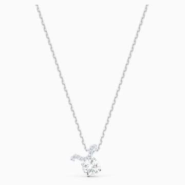 Zodiac II-hanger, Stier, Wit, Gemengde metaalafwerking - Swarovski, 5556905