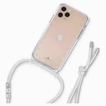 Swarovski Smartphone Kette mit Schutzhülle und Stoßschutz, iPhone® 11 Pro, weiss - Swarovski, 5557777