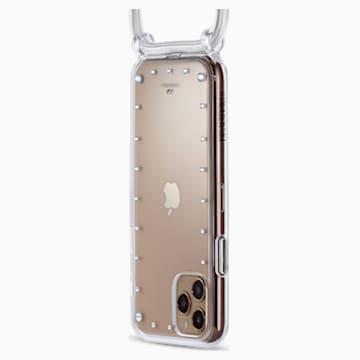 Custodia per smartphone a collana con bumper Swarovski, iPhone® 11 Pro, bianco - Swarovski, 5557777