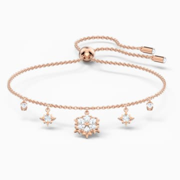 Bracelet Magic, blanc, métal doré rose - Swarovski, 5558186