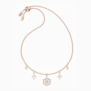 Magic Bracelet, White, Rose-gold tone plated - Swarovski, 5558186