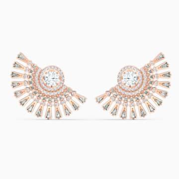 Swarovski Sparkling Dance Dial Up 穿孔耳环, 灰色, 镀玫瑰金色调 - Swarovski, 5558190