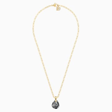 T Bar Pendant, Grey, Gold-tone plated - Swarovski, 5558340