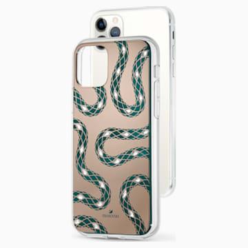 Pouzdro na chytrý telefon Theatrical s ochranným okrajem, iPhone® 11 Pro Max, zelené - Swarovski, 5558712