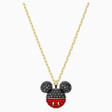 Pendente Mickey, nero, placcato color oro - Swarovski, 5559176
