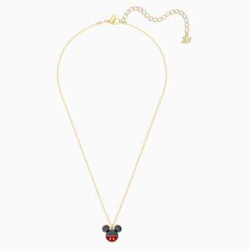 Mickey-hanger, Zwart, Goudkleurige toplaag - Swarovski, 5559176