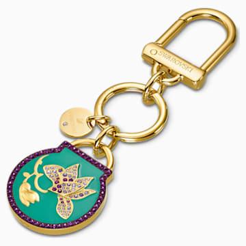 Togetherness 钥匙扣, 蓝色, 镀金色调 - Swarovski, 5559822