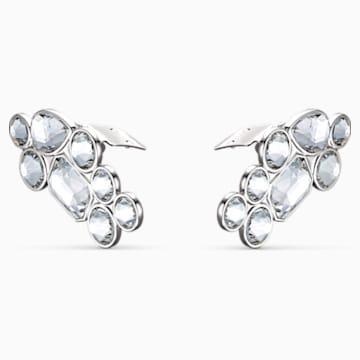 Clips à chaussure Swarovski, blanc, métal rhodié - Swarovski, 5559823