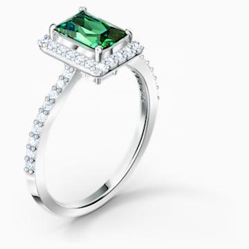 Anello Angelic Rectangular, verde, placcato rodio - Swarovski, 5559835