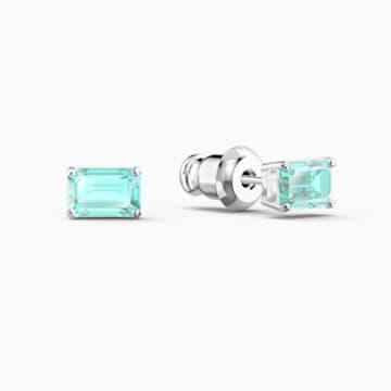 Attract Rectangular 套装, 绿色, 镀铑 - Swarovski, 5560556