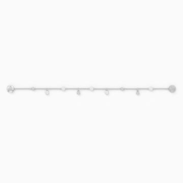 Αλυσίδα strand Delicate Pearl από τη Συλλογή Swarovski Remix, λευκή, επιροδιωμένη - Swarovski, 5560661