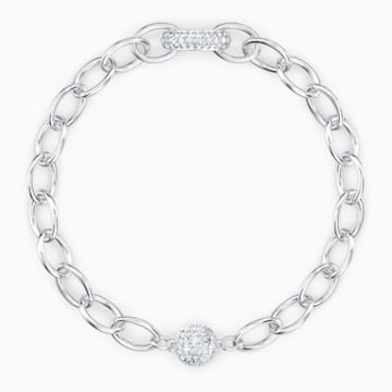 The Elements Chain Armband, weiss, rhodiniert - Swarovski, 5560662