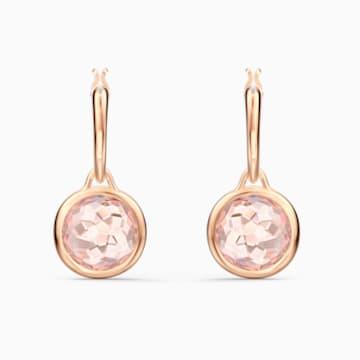 Créoles Tahlia Mini, rose, métal doré rose - Swarovski, 5560932