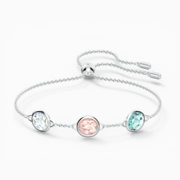 Tahlia Bracelet, Multicolored, Rhodium plated - Swarovski, 5560937