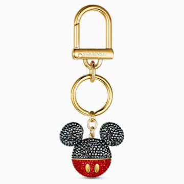 Mickey Çanta Charm'ı, Siyah, Altın rengi kaplama - Swarovski, 5560954