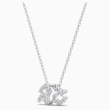Zodiac II Kolye Ucu, Kova, Beyaz, Karışık metal bitiş - Swarovski, 5561421