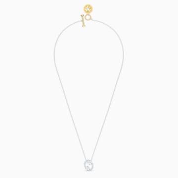 Zodiac II-hanger, Kreeft, Wit, Gemengde metaalafwerking - Swarovski, 5561422