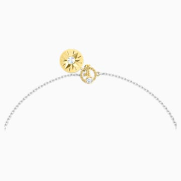 Zodiac II 链坠, 巨蟹座, 白色, 多种金属润饰 - Swarovski, 5561422